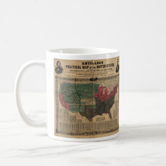 Vintage Political Map of The United States (1856) Coffee Mug