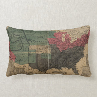 Vintage Political Map of The United States (1856) Lumbar Pillow