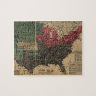 Vintage Political Map of The United States (1856) Jigsaw Puzzles