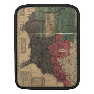 Vintage Political Map of The United States (1856) Sleeve For iPads