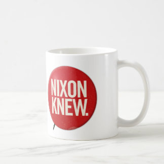 Vintage Political Richard Nixon Button Nixon Knew Coffee Mug