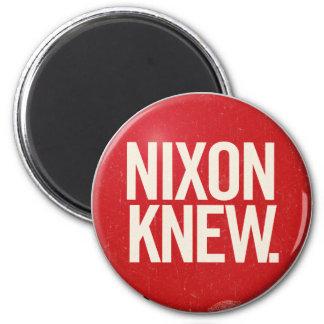 Vintage Political Richard Nixon Button Nixon Knew Magnet