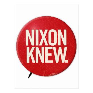 Vintage Political Richard Nixon Button Nixon Knew Post Cards