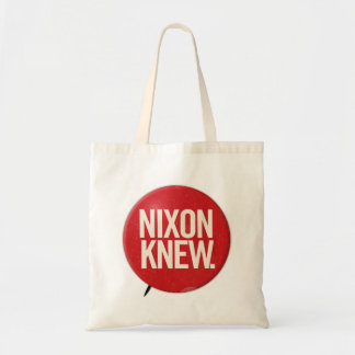 Vintage Political Richard Nixon Button Nixon Knew Tote Bag