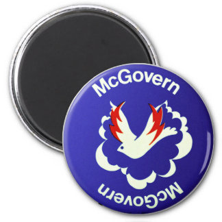 Vintage Politics McGovern For President Button 2 Inch Round Magnet