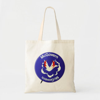 Vintage Politics McGovern For President Button Tote Bags