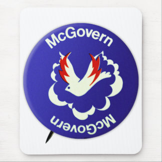 Vintage Politics McGovern For President Button Mouse Pad