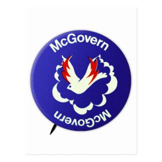 Vintage Politics McGovern For President Button Postcard