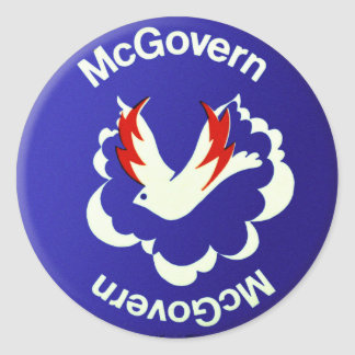 Vintage Politics McGovern For President Button Classic Round Sticker