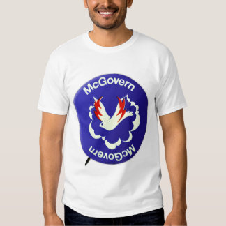 Vintage Politics McGovern For President Button T-shirts
