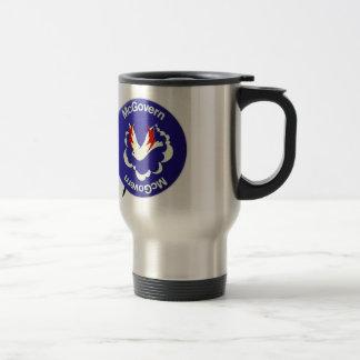 Vintage Politics McGovern For President Button Travel Mug