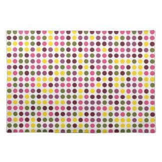 Vintage Polka Dots   Abstract Art Cloth Place Mat