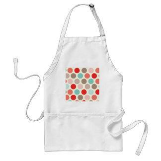 Vintage Polka Dots Pattern Color Cool Design Style Adult Apron