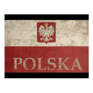 Vintage Polska Tarjeta Postal