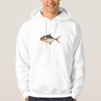 Vintage Pompano Fish- Game Fishes Template Blank Hoodie