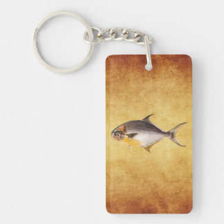 Vintage Pompano Fish - Game Fishes Template Blank Keychain