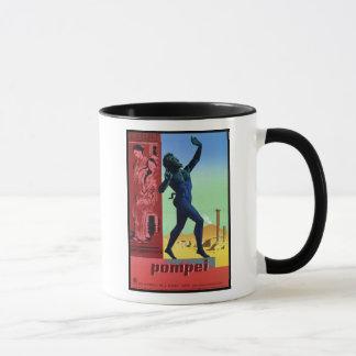Vintage Pompeii Italian travel poster Mug