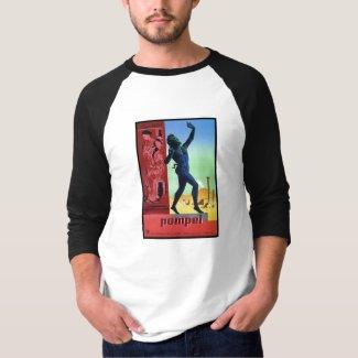 Vintage Pompeii Italian travel poster T-Shirt