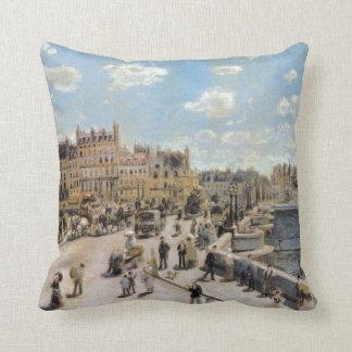 Vintage Pont Neuf Paris France Throw Pillow