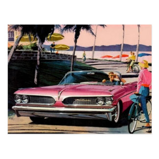Vintage Pontiac Ad Postcard