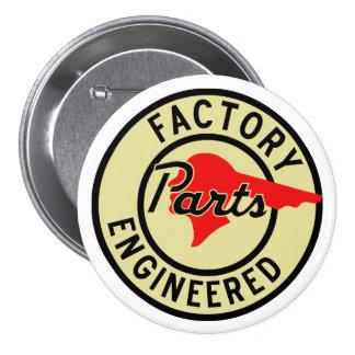 Vintage Pontiac Factory parts sign Pinback Button