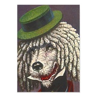 Vintage Poodle Dog Blank Invitations Announcements