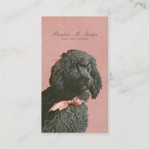 Vintage Poodle Dog Grooming Cool Animal Elegant Business Card
