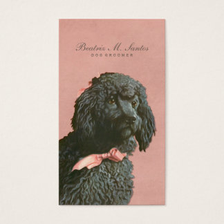 Vintage Poodle Dog Grooming Cool Animal Elegant Business Card