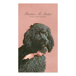 Vintage Poodle Dog Grooming Cool Animal Elegant Double-Sided Standard Business Cards (Pack Of 100)