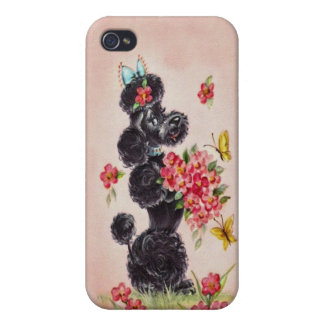 Vintage Poodle iPhone 4/4S Cover