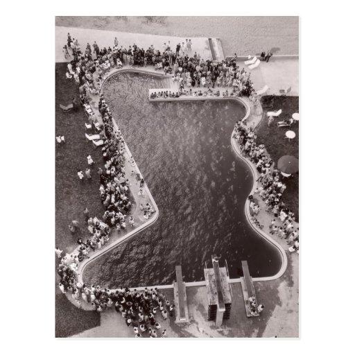 Vintage Pool Scene Postcard - 1766887-4