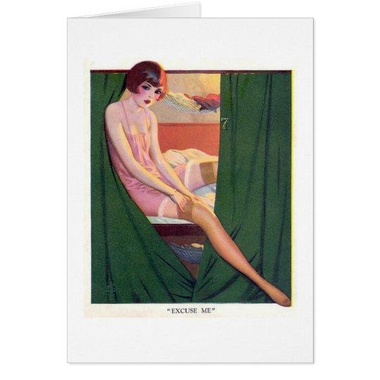 Vintage Pop Art Card