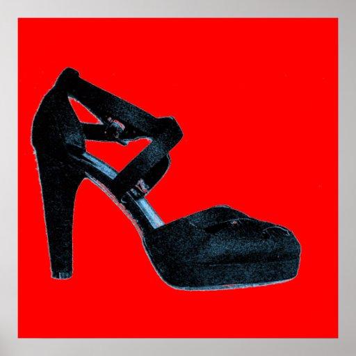 Vintage Pop Art High Heel Shoe  Poster