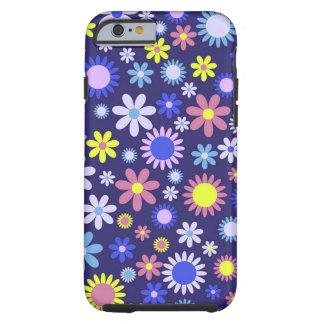 Vintage Pop Art Style Floral Pattern Tough iPhone 6 Case
