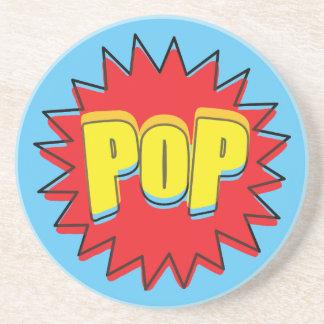 Vintage Pop! Comic Sound Effect Sandstone Coaster