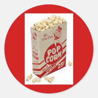 Vintage Pop Corn Ad Stickers