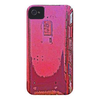 Vintage Pop Magenta Pink Phone Booth Case-Mate iPhone 4 Case