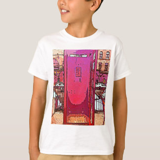 Vintage Pop Magenta Pink Phone Booth T-Shirt