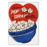 Vintage Popcorn Valentine's Day Card