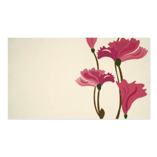 Vintage poppies Business Card