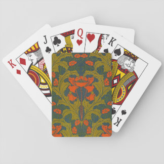 Vintage Poppies by Harry Napper Playing Cards