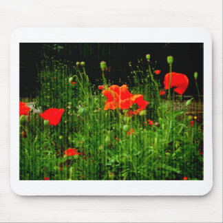 Vintage Poppies Colours Mouse Pad