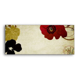 Vintage poppies Envelope