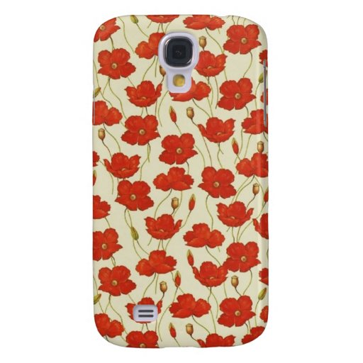 Vintage Poppies Galaxy S4 Cover