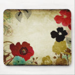 "Vintage poppies Mousepad<br><div class=""desc"">Illustration of poppies on mousepad</div>"