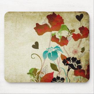Vintage Poppies Mousepad
