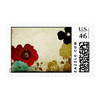 Vintage poppies Postage
