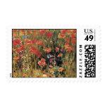 Vintage Poppy Field Postage Stamps
