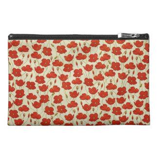 Vintage Poppy Wallpaper Travel Accessories Bag