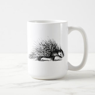 Vintage Porcupine Illustration - 1800's Porcupines Coffee Mugs